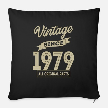 King Vintage since 1979 all original parts birthday gif - Sofa pillow with filling 45cm x 45cm