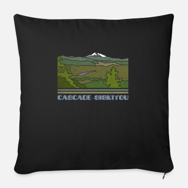Silhouette Cascade–Siskiyou Shirt National Monument Nature So - Sofa pillow with filling 45cm x 45cm