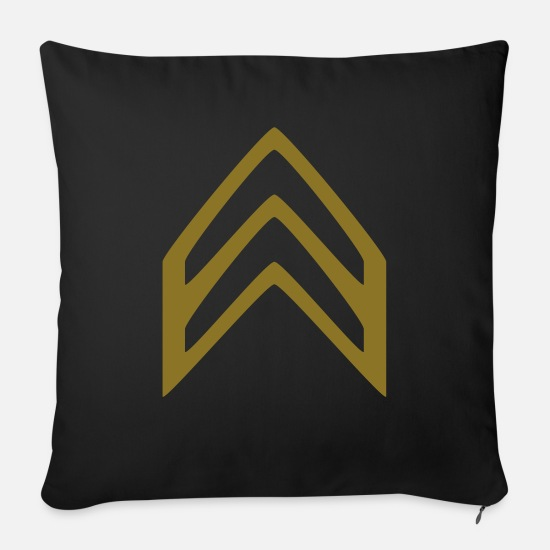 Army Pillow Cases - Insignia Corporal - Sofa pillow with filling 45cm x 45cm black