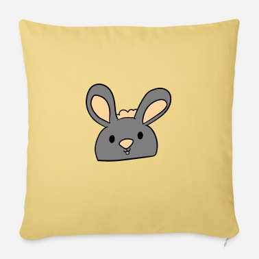 Floppy Ears Gray floppy eared bunny - Sofa pillow with filling 45cm x 45cm