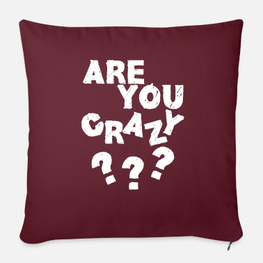 Bavarois Are you crazy- blanc - Coussin et housse de 45 x 45 cm