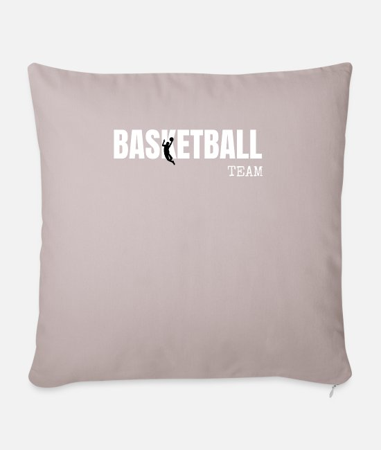 Competition Pillow Cases - Basketball team gifts - Sofa pillow with filling 45cm x 45cm light taupe
