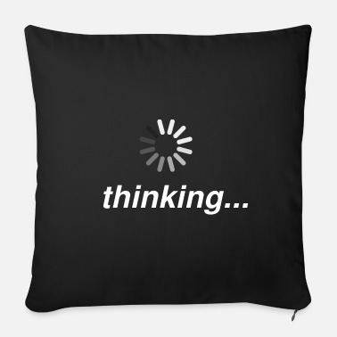 Smartphone Addiction Thinking Loading Connection Funny smartphone - Sofa pillow with filling 45cm x 45cm