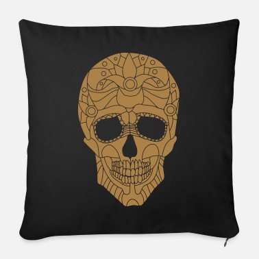 Stylized Stylized skull - Sofa pillow with filling 45cm x 45cm