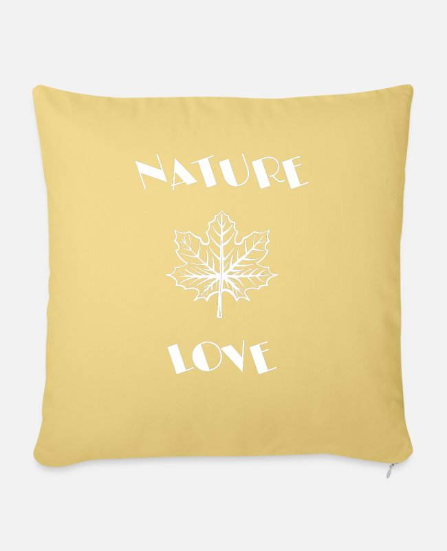 Nature Pillow Cases - NATURE - Sofa pillow with filling 45cm x 45cm washed yellow