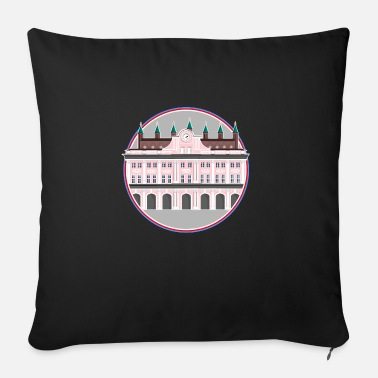 Town Hall Rostock Town Hall Poster - Sofa pillow with filling 45cm x 45cm