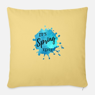 Spring Splash of color blue It's Spring Time - Sofa pillow with filling 45cm x 45cm