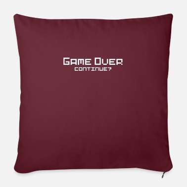 Game Over Game Over Gaming gamer - Sofapude med fyld 44 x 44 cm