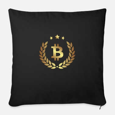 Bitcoin currency gold sign - Sofa pillow with filling 45cm x 45cm