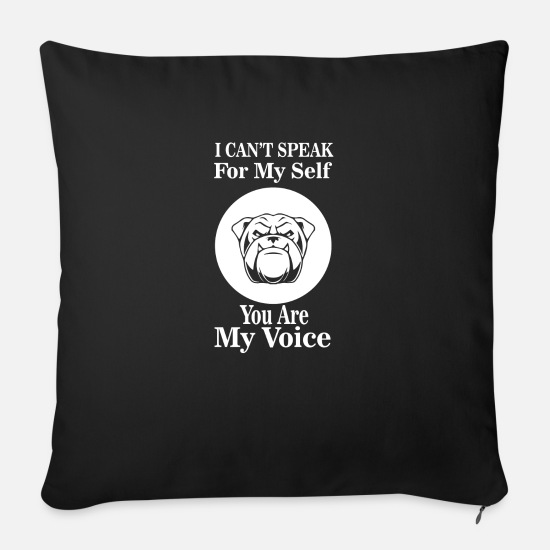Dog Friend Pillow Cases - Dog obedient loyalty command dog love dog owner - Sofa pillow with filling 45cm x 45cm black