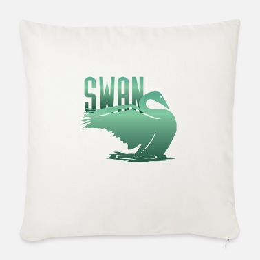 Swan Swan dwarf swan whooper swan swans - Sofa pillow with filling 45cm x 45cm