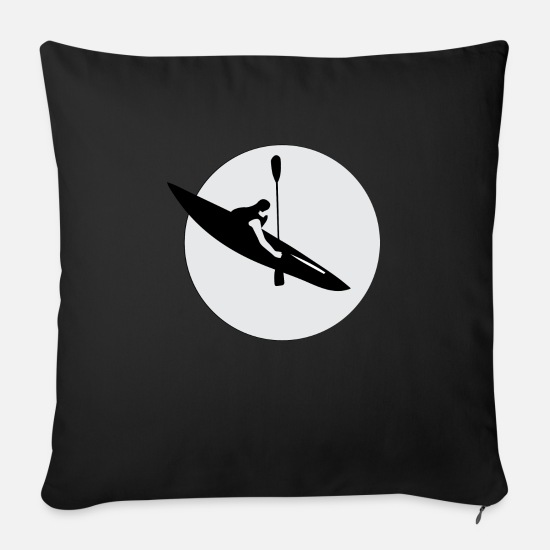 Aquatics Pillow Cases - Oars while rowing Gift idea Water sports kayaker - Sofa pillow with filling 45cm x 45cm black