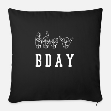 Bday bday - Sofa pillow with filling 45cm x 45cm