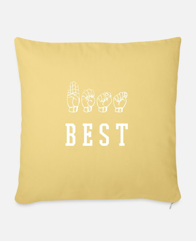 Companion Pillow Cases - Best - Sofa pillow with filling 45cm x 45cm washed yellow