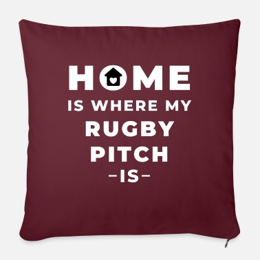 Boy Home is where my rugby pitch is. - Sofa pillow with filling 45cm x 45cm