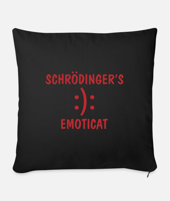 Coder Pillow Cases - Schrödinger IT saying gift - Sofa pillow with filling 45cm x 45cm black