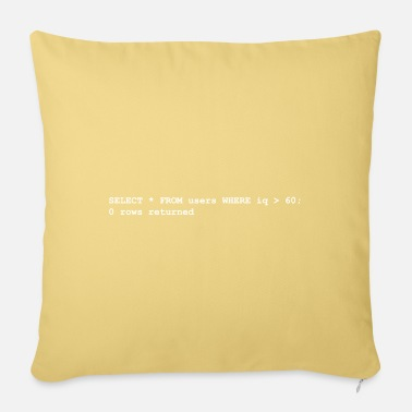 Gaming Nerd Users iq rows programming gift computer science - Sofa pillow with filling 45cm x 45cm
