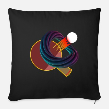 Fire Tail Table tennis with tail through abstract ring. - Sofa pillow with filling 45cm x 45cm