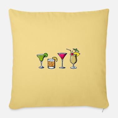 Long Drinks Cocktails long drinks drinking drunk party - Sofa pillow with filling 45cm x 45cm