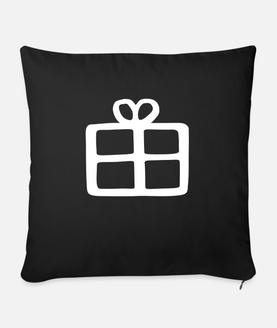 Make A Present Pillow Cases - gift - Sofa pillow with filling 45cm x 45cm black