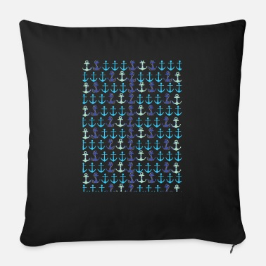 Pattern Anchor pattern - Sofa pillow with filling 45cm x 45cm