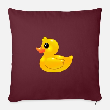 Duck Rubber Duck - Rubber Duck - Sofa pillow with filling 45cm x 45cm