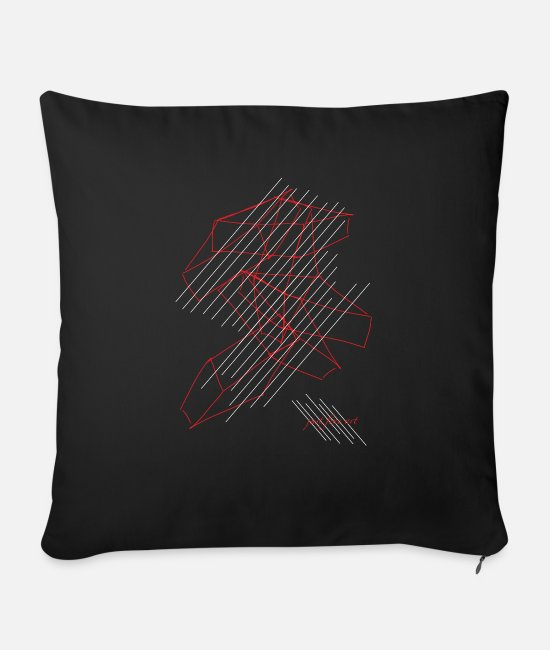 Trendy Pillow Cases - Fashion trend - Sofa pillow with filling 45cm x 45cm black
