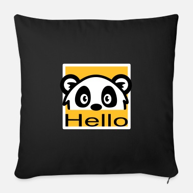 Hello panda bear - Sofa pillow with filling 45cm x 45cm