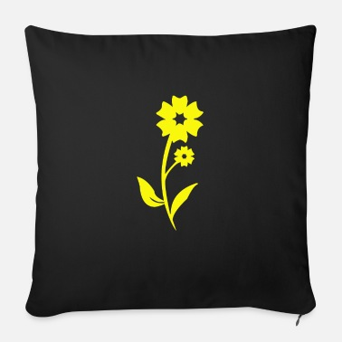 Bloom Flower bloom garden plant gift - Sofa pillow with filling 45cm x 45cm