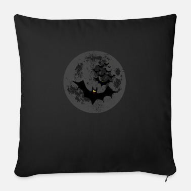 Dark Wave Vampire Bats Against The Dark Moon - Sofa pillow with filling 45cm x 45cm