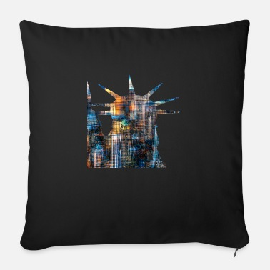 20120608 DSC 1330NYC Lady Liberty Downtown trans - Sofa pillow with filling 45cm x 45cm