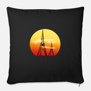 Radio Tower Radio Towers - Sofa pillow with filling 45cm x 45cm