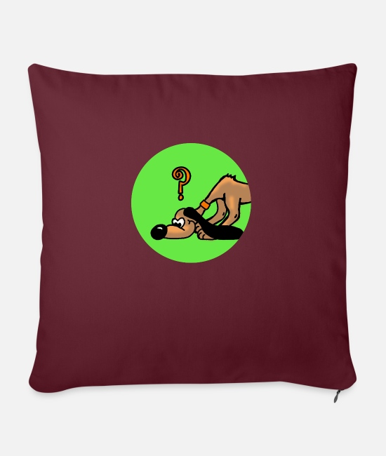 Doggie Pillow Cases - Search dog dog - Sofa pillow with filling 45cm x 45cm burgundy