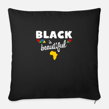 Beautiful Black is beautiful - Sofa pillow with filling 45cm x 45cm