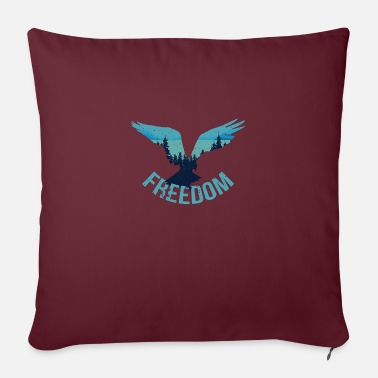 Freedom Freedom Freedom - Sofa pillow with filling 45cm x 45cm