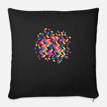Pattern A herringbone pattern - Sofa pillow with filling 45cm x 45cm