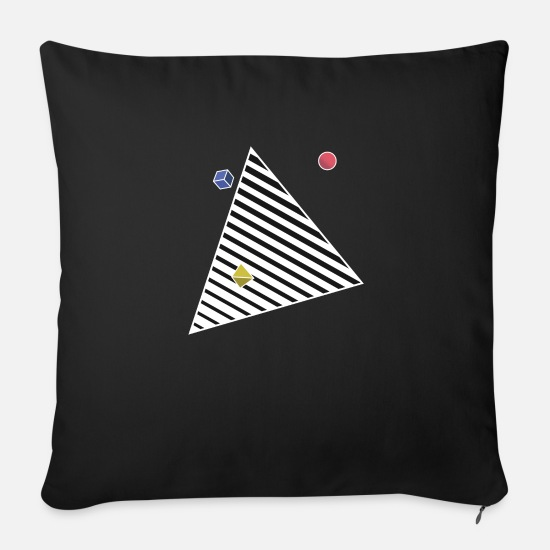 Contrast Pillow Cases - Pyramid Portal Contrast Hoodie - Sofa pillow with filling 45cm x 45cm black