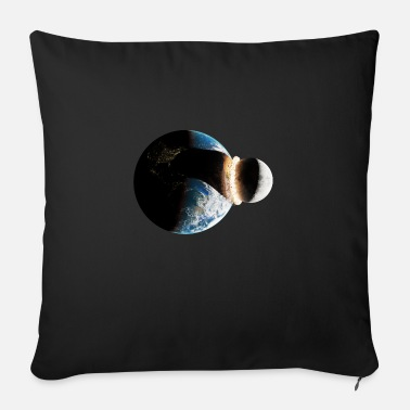 Kaboom Earth moon collision - Sofa pillow with filling 45cm x 45cm