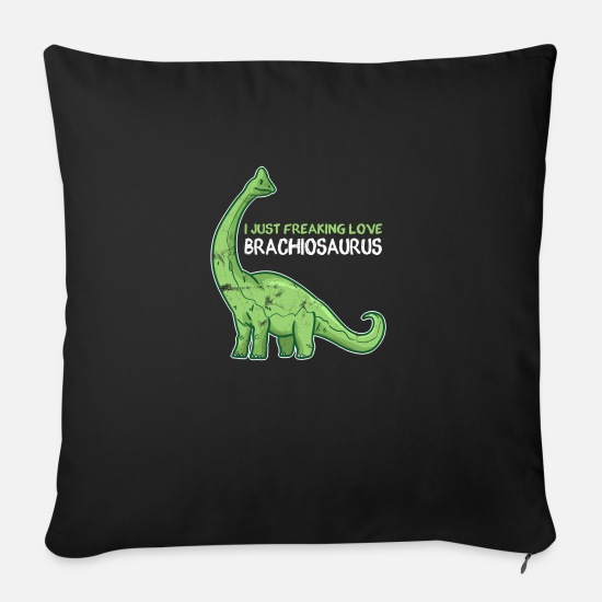 Gift Idea Pillow Cases - DINO - Sofa pillow with filling 45cm x 45cm black