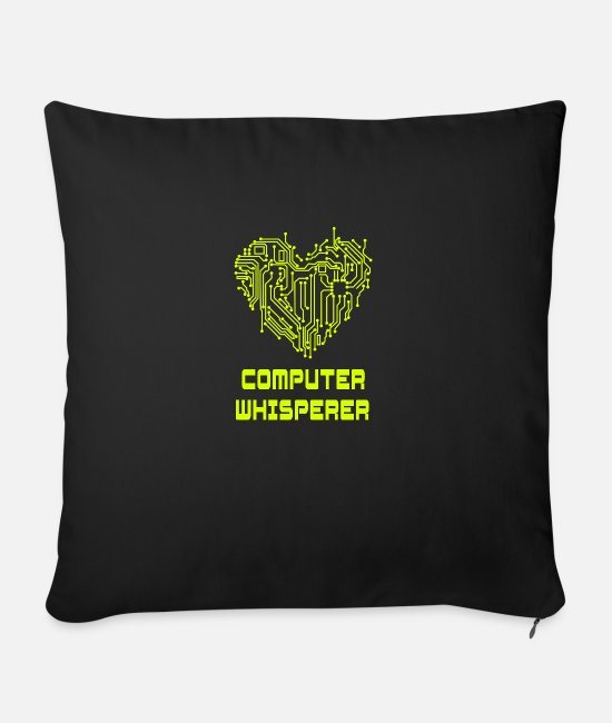 Css Pillow Cases - Computer whisperer - Sofa pillow with filling 45cm x 45cm black