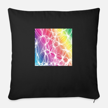 Curved rainbow lines - Sofa pillow with filling 45cm x 45cm