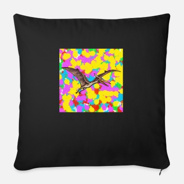 Funky Pterosaur Pop Colour Tie Dye Background Cool Indie - Sofa pillow with filling 45cm x 45cm