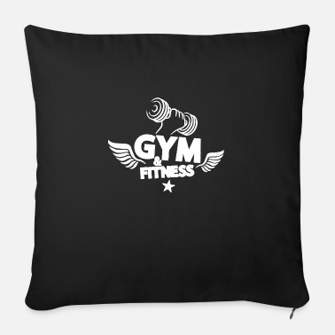 Fitness fitness fitness - Sofapude med fyld 44 x 44 cm
