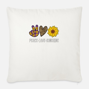 Peace Peace Love Sunshine - Sofa pillow with filling 45cm x 45cm