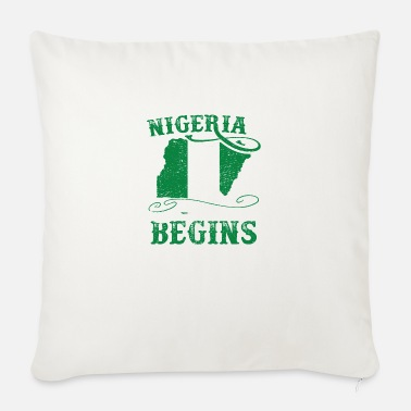 National Pride Patriotic Abuja Nigeria T-Shirt - Sofa pillow with filling 45cm x 45cm