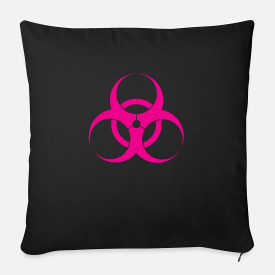 Toxic Pillow Cases - Virus - Sofa pillow with filling 45cm x 45cm black