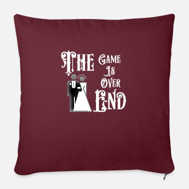 End Game Just Married The End Game Is Over - Sofa pillow with filling 45cm x 45cm