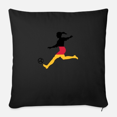Football women's soccer, colors freely selectable - Sofa pillow with filling 45cm x 45cm