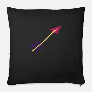Water Underwear Symbol - Shooting Arrow - Sofa pillow with filling 45cm x 45cm