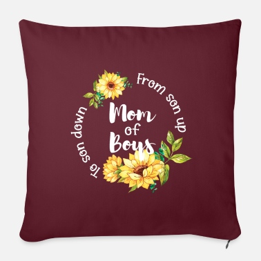Down With Detroit Boy Mom From Son Up To Son Down Mother T-Shirt - Sofa pillow with filling 45cm x 45cm